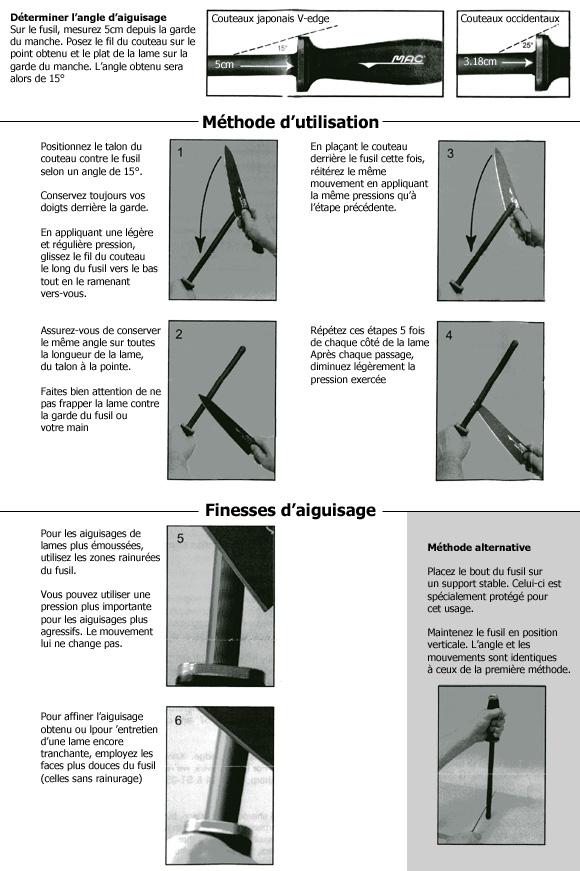 utilisation du fusil d'aiguisage