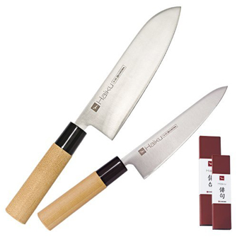 H35 set de 2 couteaux haiku santoku h05 couteau chef h03 - Le petit couteau santoku ...